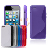 S-Line TPU Silicone Rubber Skin Soft case for iphone Apple 5C DHL free shipping  300pcs/lot