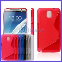 10pcs/lot For Samsung Galaxy Note III Note 3 N9000 High Quality Soft Gel S Line Back TPU Case