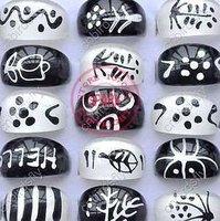 Original Single Resin Lucite Rings Mixed 50pcs Fashion Jewelry Fashion Ring