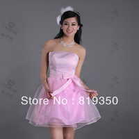 Support wholesale 2013 new bridal wear formal dress short design free shipping bridesmaid dresses under $50