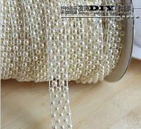 9 meter beige Half Round Pearl Garland Wedding Centerpiece Cake Banding Trim Ribbon Decoration 15mm free shipping