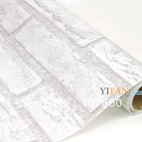 45 cm wide / PVC self-adhesive wallpaper / bedroom, living room decoration wallpaper / gray bricks