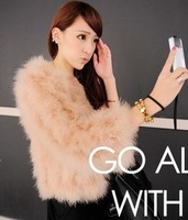 Free Shipping 2013 New Fashion Faux Fur Coat for Women ladies ostrich wool outerwear short design female fur outerwear
