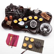 Small yixing pot xi shi kung fu tea set solid wood tea tray tea sets tea sea set