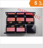4PCS free shipping cheap two -color blush / color pattern blush brush with velvet ribbon cassette sent