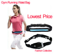 NEW ARRIVE 1PCS Outdoors Waterproof zipper belt Gym bags Running Sports Bag purse,Mobile phone bags Hot selling GB082e