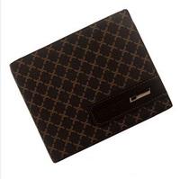 Male PU wallet novelty households genuine leather megga short design cowhide wallet