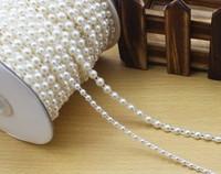 Diy accessories handmade materials 50 Meters half  Round Pearl Garland Wedding Centerpiece Decoration Trim Size 4mm