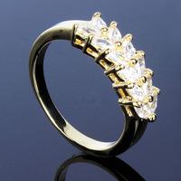 AAA zirconium crystal rings Bridal 18K gold plating Platinum Elegant Dinner party sale promotion