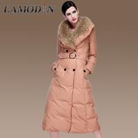 New Fashion Clothes 2015 Winter Womens long down coat Women white duck Coat big raccoon fur Jacket ,Thickening Parka for Women
