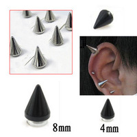 Girls punk male magnet stud earring male no pierced stone magnet stud earring