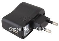 Portable AC EU Charger Power Adapter to USB EU for Mobile Phone MP4 MP3 Camera etc