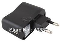 Portable AC EU Charger Power Adapter to USB EU for Mobile Phone MP4 MP3 Camera etc