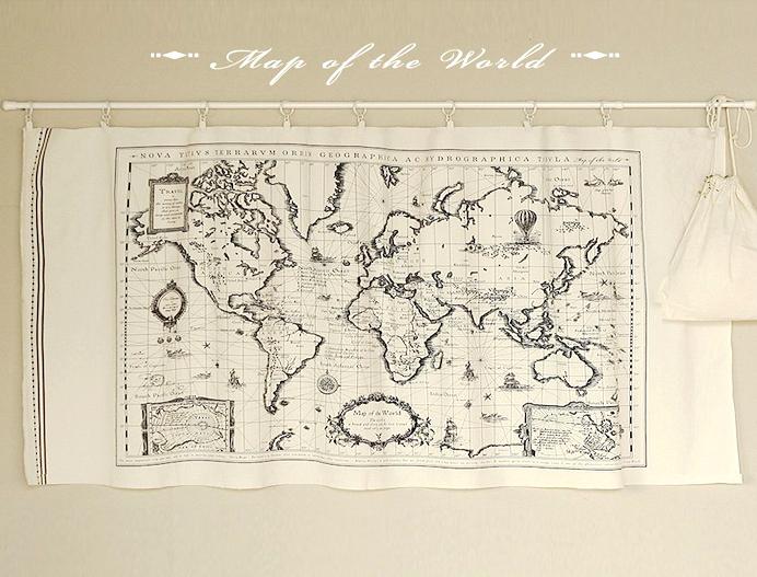 1 peça Vintage World Map painel de tecido Patchwork Quilt costura Material algodão de linho tecido DIY cortina toalha de(China (Mainland))