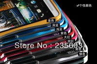 Top-level Aluminum Metal Double color border for HTC One M7 Multi colour Cell Mobile phone protector Covers Cases Free shipping