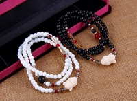 Buddha statue multi-layer crystal beads bracelet for Lucky and Money Drawing YY9012
