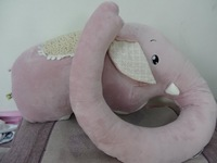 Good Quality Elephant Shaped Figural Pillow Stuffed Animal Toy Plush Toy Dolls