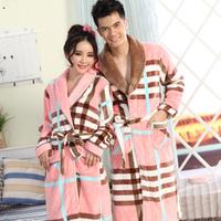 Bird autumn and winter coral fleece robe female male lovers robe flannel bathrobe long-sleeve lovers sleepwear