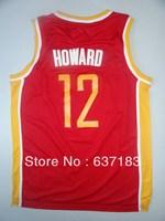 Mens Cheap Superman #12 Dwight Howard Red/White New Materials 30 Sports Jerseys,2013 Houston Basketball Shirt,Stitch Logo Names