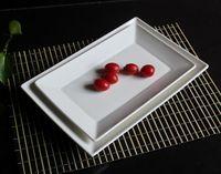 Plate porcelain plates rectangular plate fashion cake pan sushi plate dish western dish ceramic tableware