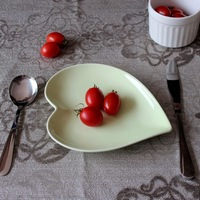 Porcelain tableware zakka japanese style brief ceramics love dishes heart plate