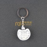 12pcs Travel Souvenir South Africa Jewelry Bone Keychain Creative Lucky Yak Keyring Tortoise K0162