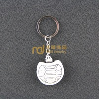 2013 Fashion Punk Jewelry Resin Ivory Ox Bone Key Chain K0162 Decoration Free Shipping (mix min order $29)