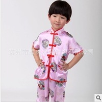 Child chinese style tang suit table male child costume tang suit set baby tang suit