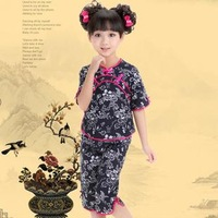 Child tang suit female child tang suit cheongsam performance wear baby fluid tang suit set