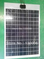 50W/18v   flexible solar panel/Aluminum plate/solar cells/solar system kit/sun energy  /The 12 v car battery charging