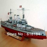 Free shipment diy paper model Battleship 66cm Long 1:200 German Battlecruiser Schleswig Holstein military naval ship 3d puzzles