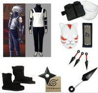 Naruto Shippuden Shippuden Kakashi Anbu 1st Cosplay Costume Complete Set With Mask Men's Halloween Christmas Party Costume