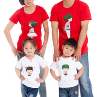Family pack short-sleeve T-shirt the tendrils family fashion parent children 2013 new summer 2013 new