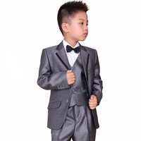 new 2015  formal dress boys quality child clothing sets child slim suit blazer 6 piece