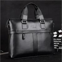 Brand POLO Fashion Leather Briefcase for men High quality Commercial Messenger Bag Laptop Briefcase Shoulder bag