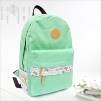 Small fresh female school bag canvas travel backpack 14 computer backpack