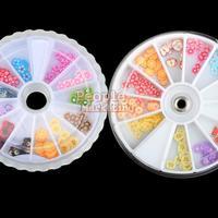 120pcs FIMO Slice FLOWER Face Nail Art Decoration 3D P4PM