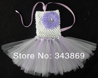 Beautiful Baby Crochet Dresses Infant and Toddler Handmade Tutu Daisy Flower Dresses Girls Ballet Tutus 6pcs/lot Free Shipping