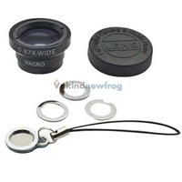 0.67X Wide Angle + Macro Lens Black for iPhone 5 4G 4S 4 i9300 Mobile Phone V3NF