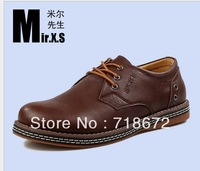 2013 new, men, first layer of leather, flat, Oxford, business suits, casual sports shoes, men leather shoes free shipping
