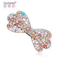 Free shipping Hair accessory rhinestone hair pin full rhinestone hairpin butterfly spring clip side-knotted clip