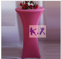 Lycra Table Cloth\Coacktail Table Cloth\Spandex Table Cloth Free Shipping In Fuchsia Color