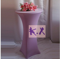 New Color Lilac Lycra Table Cloth\Coacktail Table Cloth\Spandex Table Cloth Free Shipping
