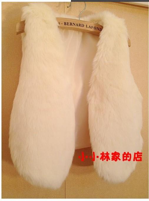 осень-зима женщин кожа трава кролик мех пальто жилет дамы сгустить цвет пальто 2 жакет жилет Полушубок