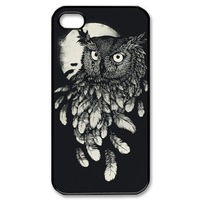 Owl Back Shell Case Cover Skin for Apple Iphone4/4s/5/5s/5c-Retro Style