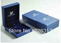 Free Shipping 7*8*3cm 20pcs/lot pendant Box with brand logo jewelry box gift box  jewelry packaging jewelry gift packaging box