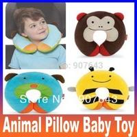 Cartoon U Pillow Back Cushion Care Pillows Cute Animal Pillow baby plush toy Free Shipping