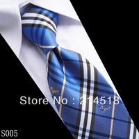 Print Slim Tie plaid Men's skinny ties Polyester pattern fashion neckties 12 designs for choose 9CM WIDTH