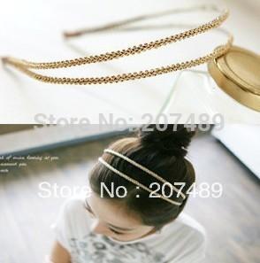 manual double layer shiny bangs Hairband tie hair hoop tools Maker band forehead hair decoration head whcn+(China (Mainland))