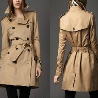 Ladies New British style double breasted slim windbreaker coat jacket, long coat jacket for lady/ladies clothes,fasion overcoat